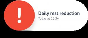 Ööpäevane puhkeaeg vähendatud tachofy